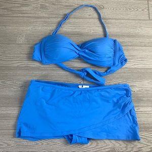 Anne Cole • Cornflower Blue Skirted Bikini